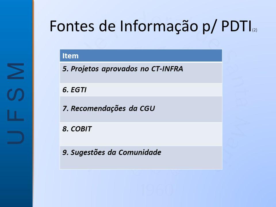 Fontes de Informação p/ PDTI(2)