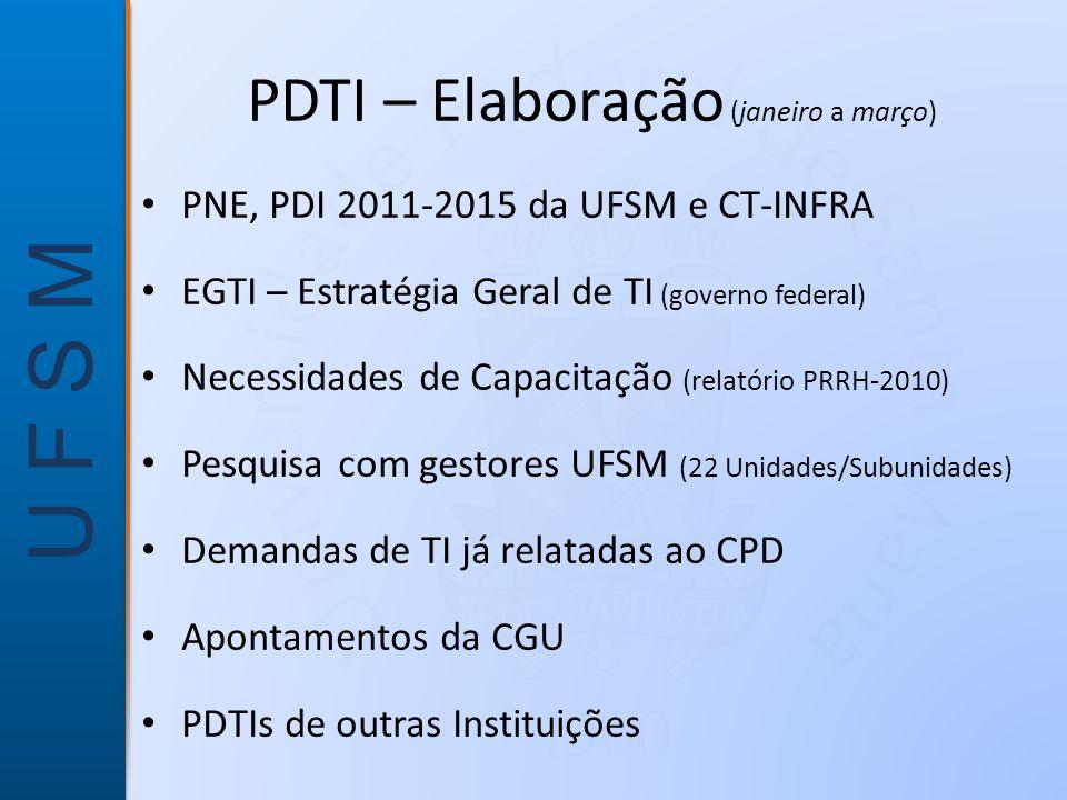 PDTI – Elaboração (janeiro a março)
