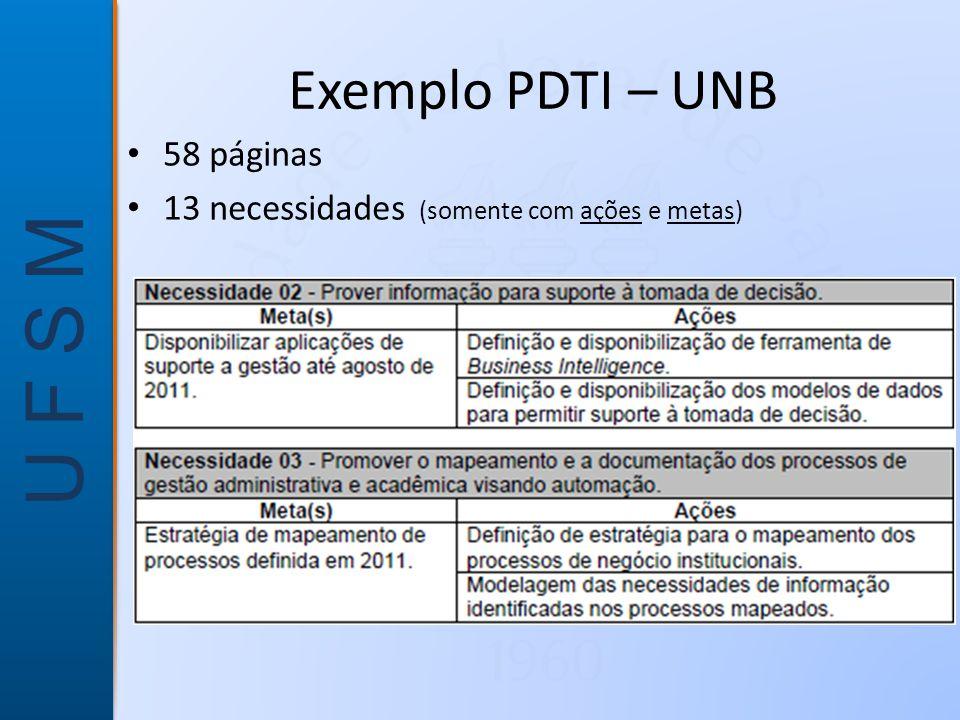 Exemplo PDTI – UNB 58 páginas