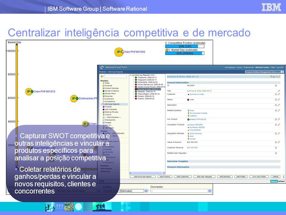 Centralizar inteligência competitiva e de mercado