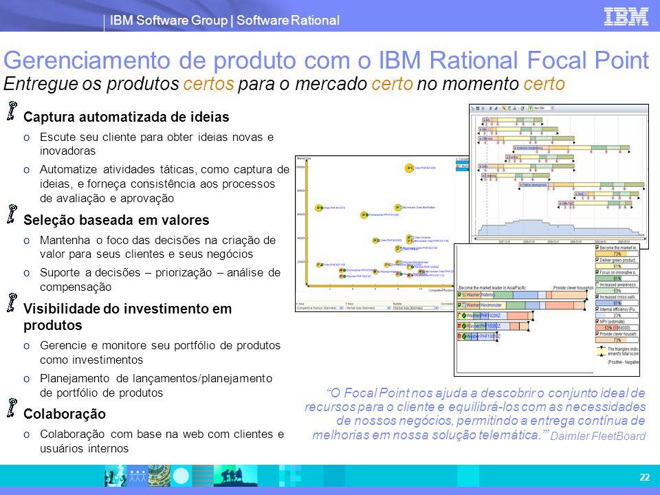 Gerenciamento de produto com o IBM Rational Focal Point Entregue os produtos certos para o mercado certo no momento certo