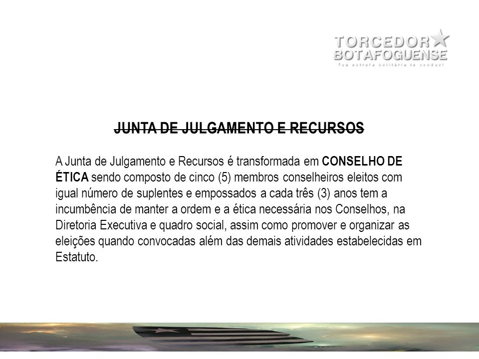 JUNTA DE JULGAMENTO E RECURSOS