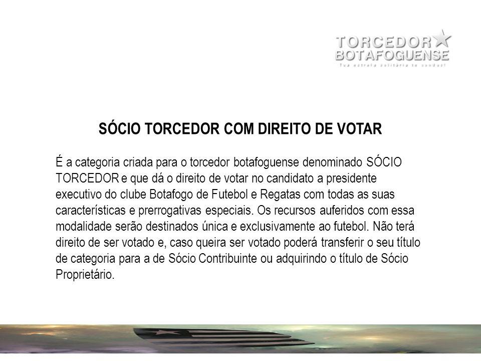 SÓCIO TORCEDOR COM DIREITO DE VOTAR