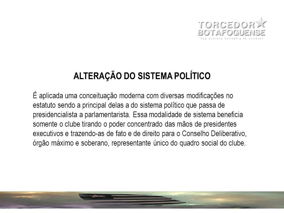 ALTERAÇÃO DO SISTEMA POLÍTICO
