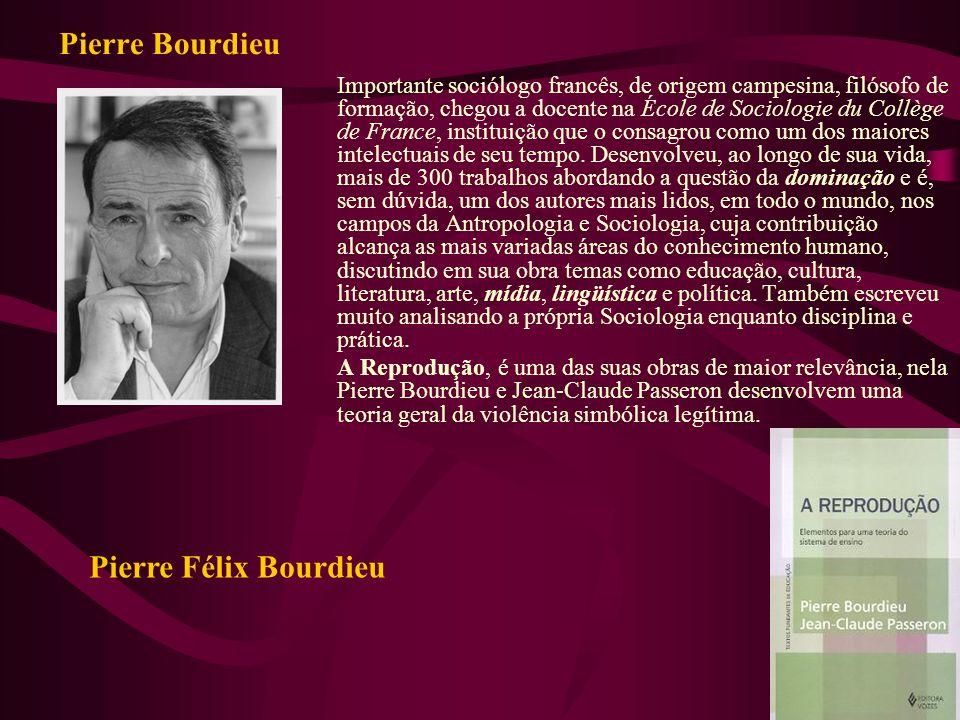 Pierre Bourdieu Pierre Félix Bourdieu