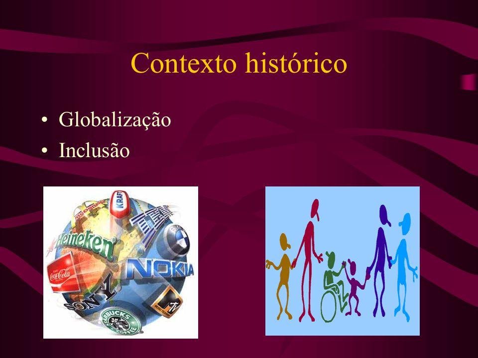 Contexto histórico Globalização Inclusão