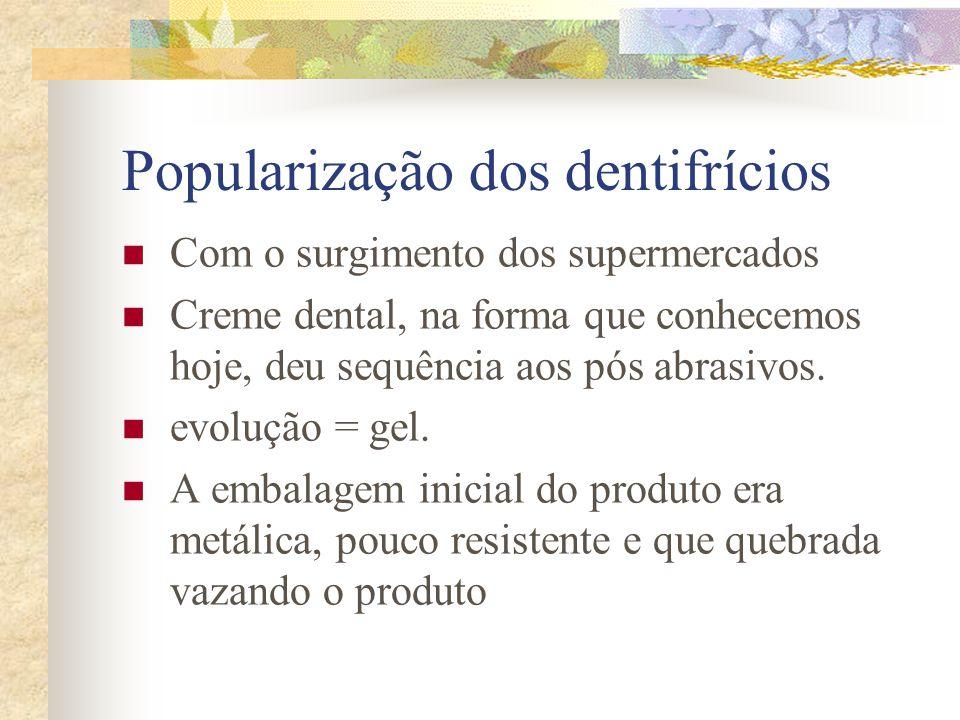 Popularização dos dentifrícios