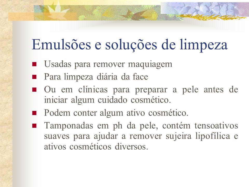 Emulsões e soluções de limpeza