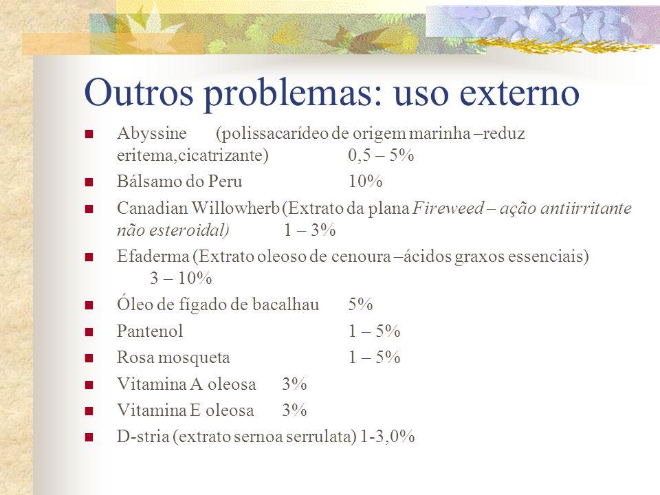 Outros problemas: uso externo
