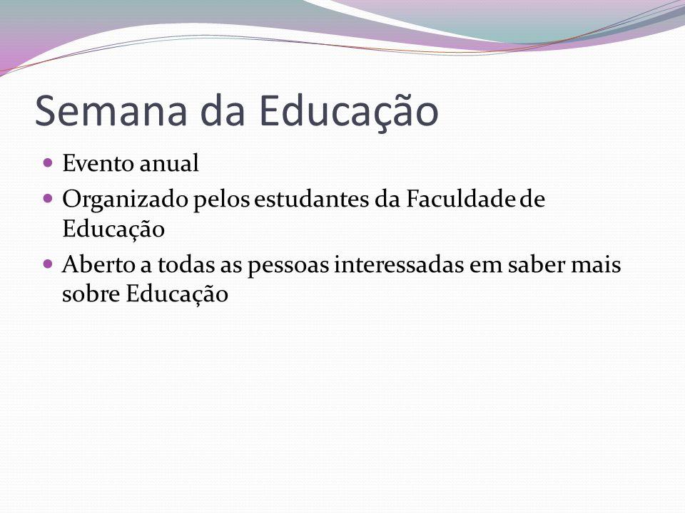 Semana da Educação Evento anual