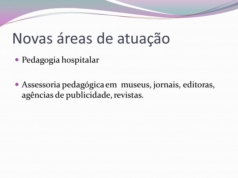 Novas áreas de atuação Pedagogia hospitalar