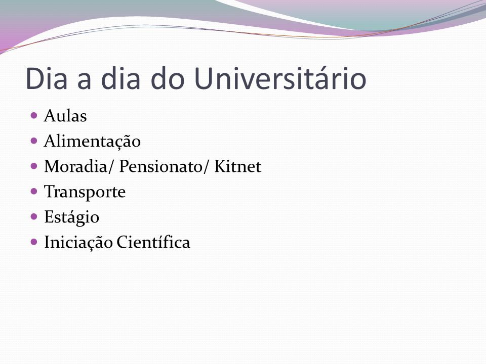 Dia a dia do Universitário