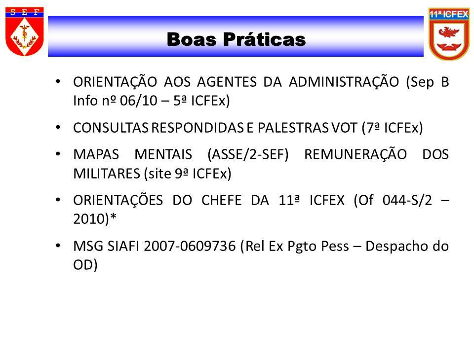 02/04/2017 02/04/2017. Boas Práticas. ORIENTAÇÃO AOS AGENTES DA ADMINISTRAÇÃO (Sep B Info nº 06/10 – 5ª ICFEx)