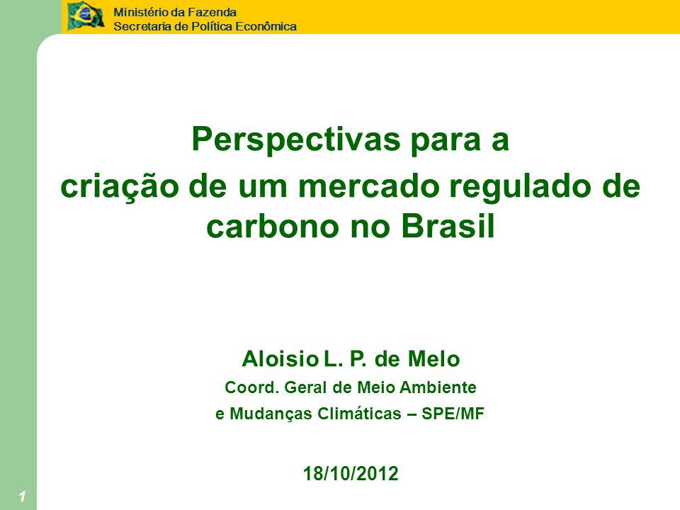 criação de um mercado regulado de carbono no Brasil
