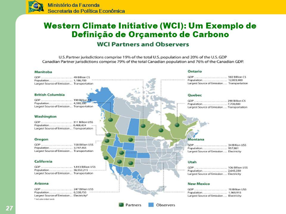 Western Climate Initiative (WCI): Um Exemplo de Definição de Orçamento de Carbono