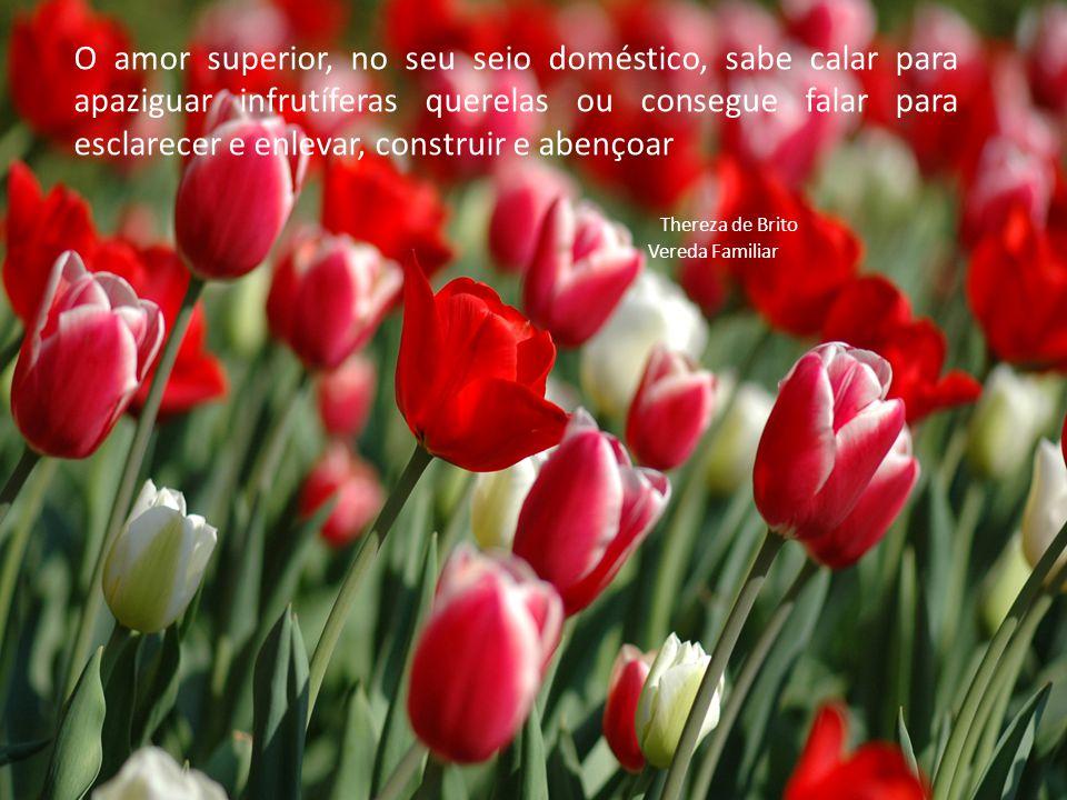 O amor superior, no seu seio doméstico, sabe calar para apaziguar infrutíferas querelas ou consegue falar para esclarecer e enlevar, construir e abençoar