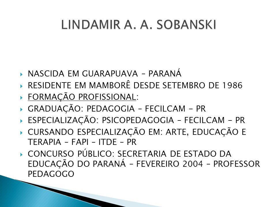 LINDAMIR A. A. SOBANSKI NASCIDA EM GUARAPUAVA – PARANÁ
