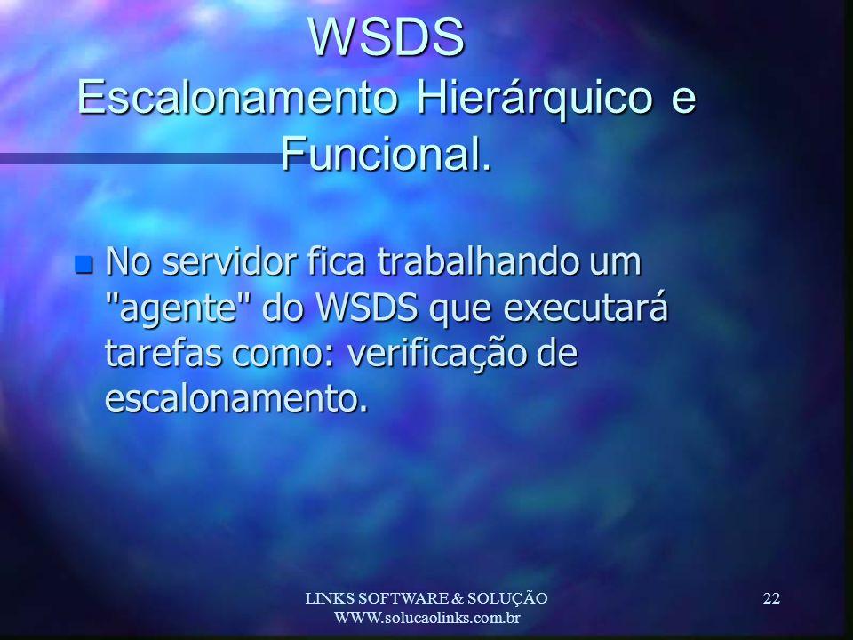 WSDS Escalonamento Hierárquico e Funcional.