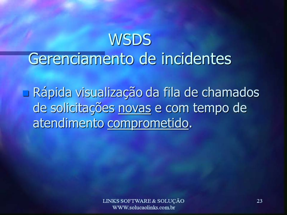 WSDS Gerenciamento de incidentes