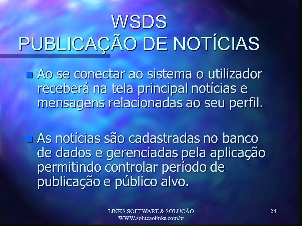 WSDS PUBLICAÇÃO DE NOTÍCIAS