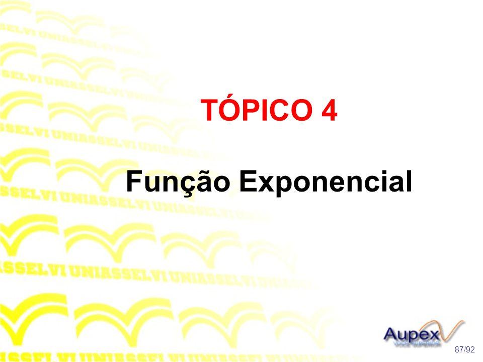 TÓPICO 4 Função Exponencial