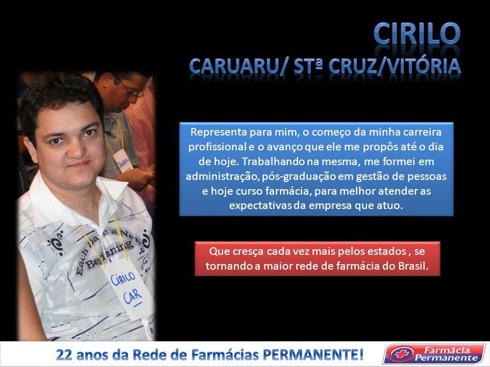 CIRILO CARUARU/ STª CRUZ/VITÓRIA