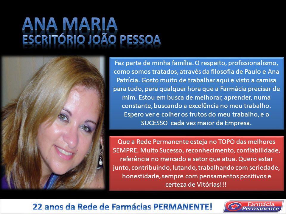 ANA MARIA ESCRITÓRIO JOÃO PESSOA