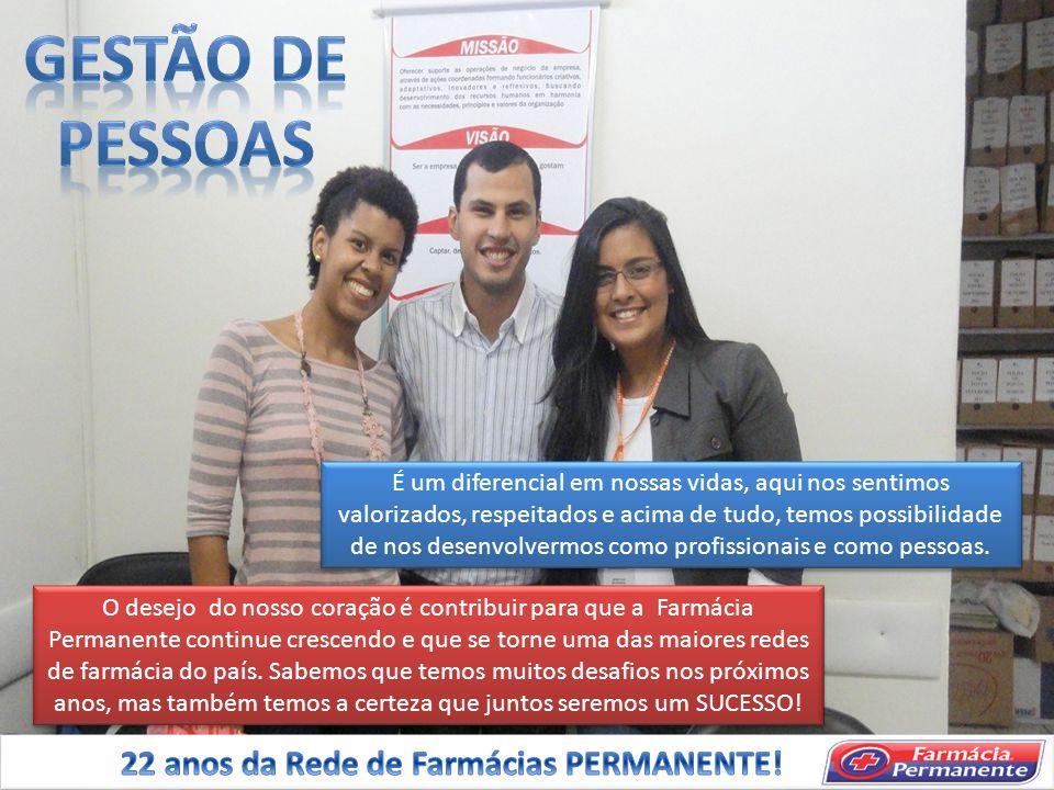 GESTÃO DE PESSOAS 22 anos da Rede de Farmácias PERMANENTE!