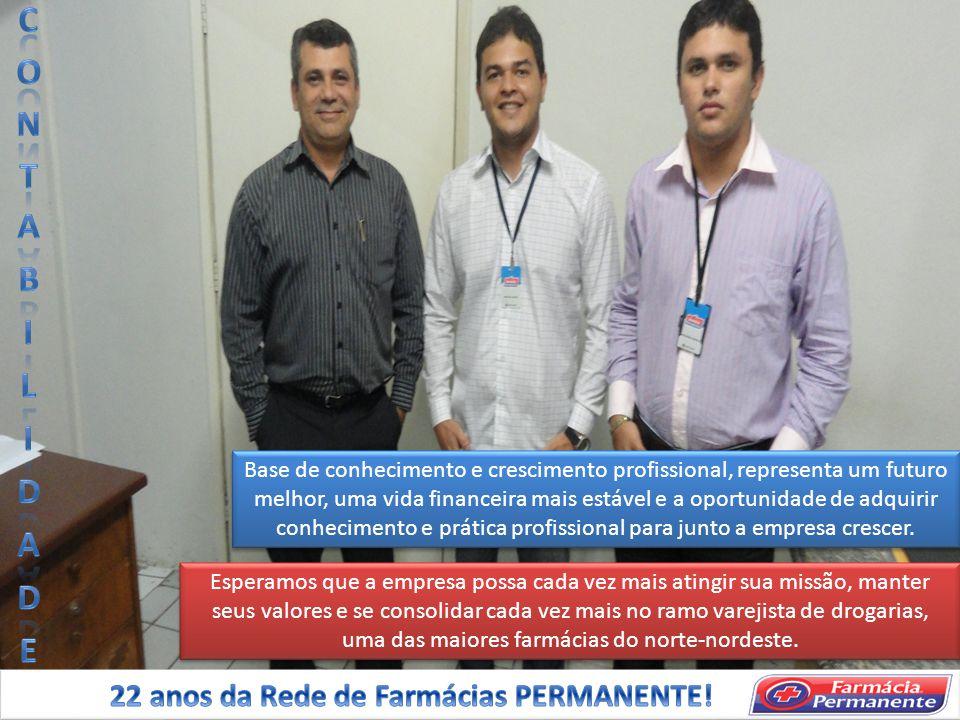 CONTABILIDADE 22 anos da Rede de Farmácias PERMANENTE!