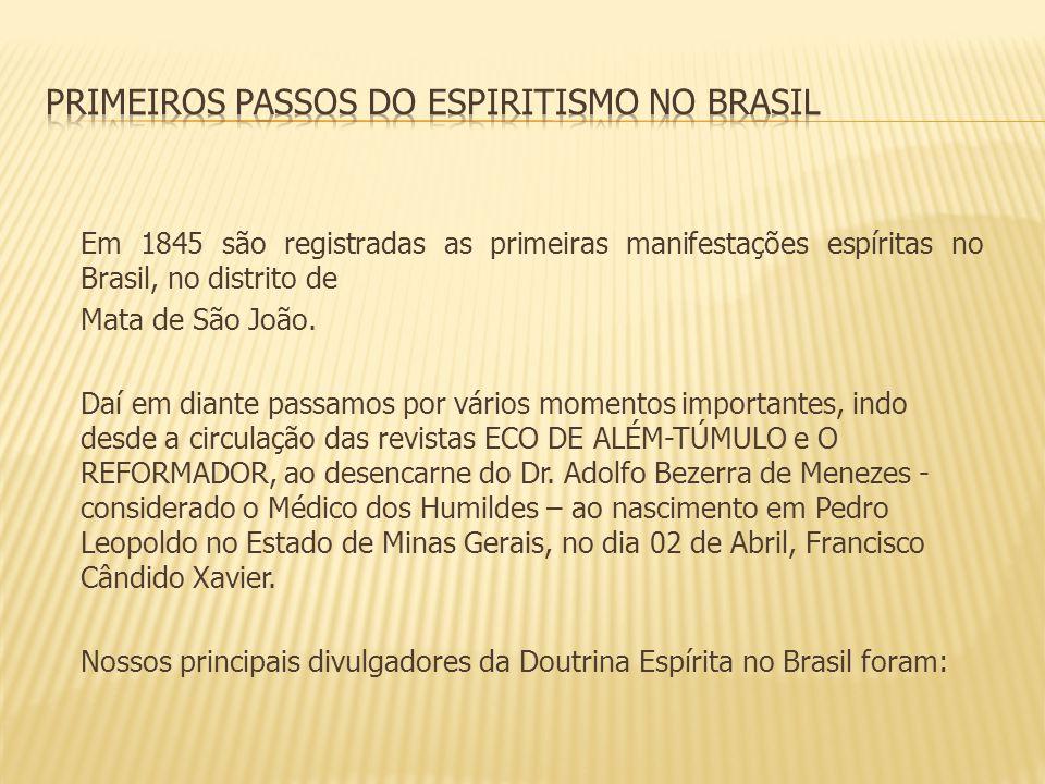 Primeiros passos do Espiritismo no Brasil