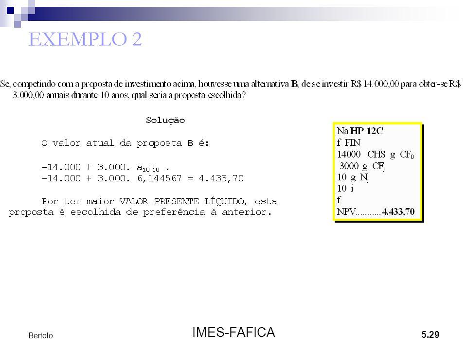 EXEMPLO 2 Bertolo IMES-FAFICA