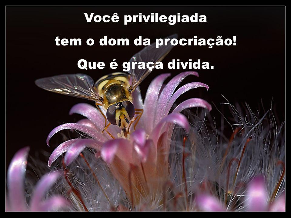 Você privilegiada tem o dom da procriação! Que é graça divida.