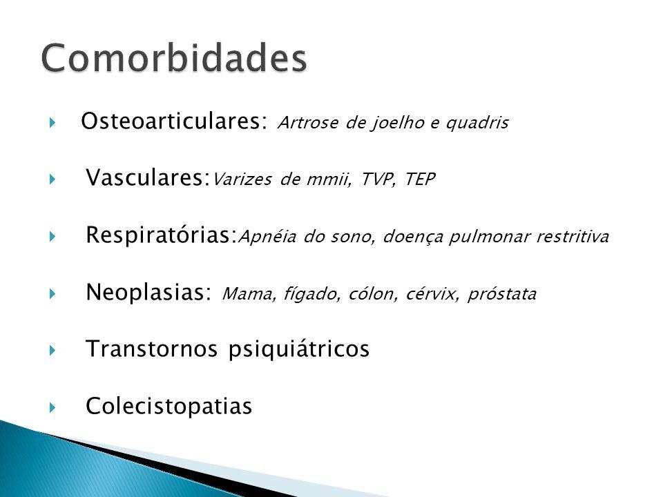 Comorbidades Osteoarticulares: Artrose de joelho e quadris