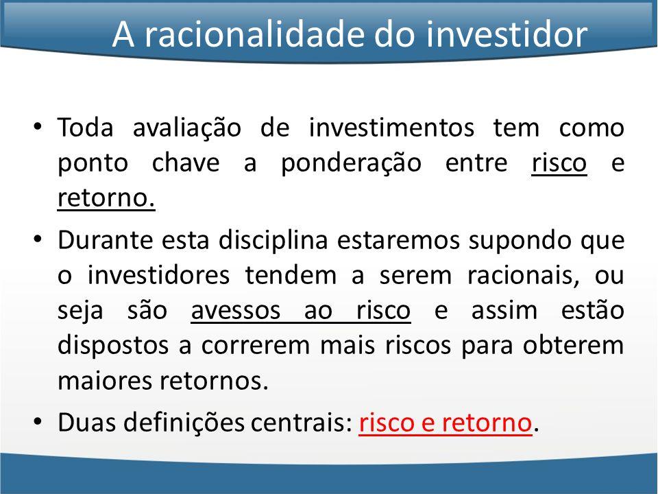 A racionalidade do investidor