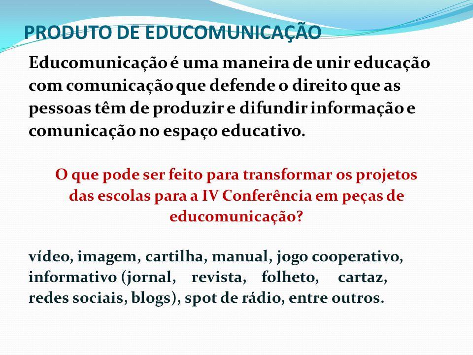 PRODUTO DE EDUCOMUNICAÇÃO