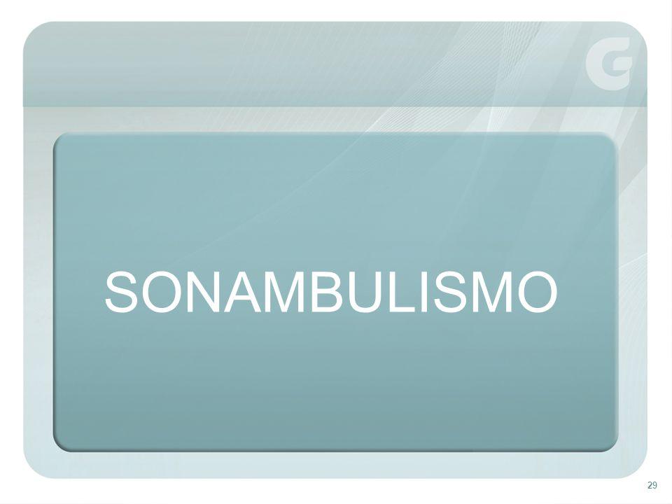 SONAMBULISMO Emancipação parcial da alma