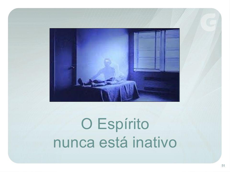 O Espírito nunca está inativo Vivência do Espírito durante o sono