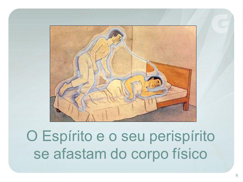 O Espírito e o seu perispírito se afastam do corpo físico