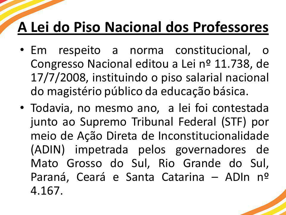 A Lei do Piso Nacional dos Professores