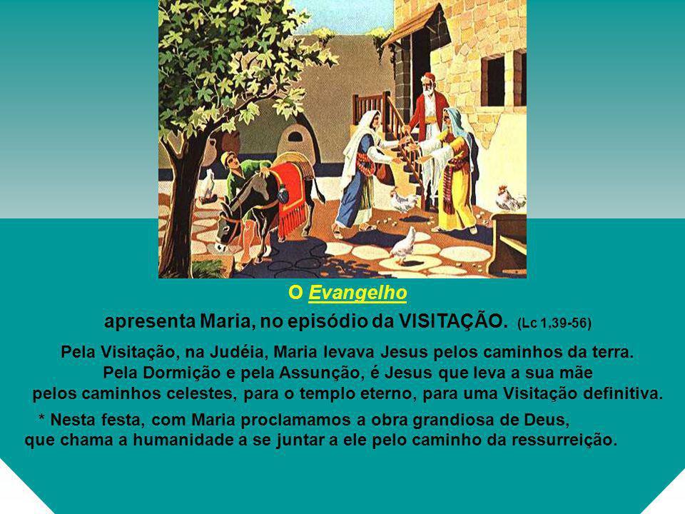 apresenta Maria, no episódio da VISITAÇÃO. (Lc 1,39-56)