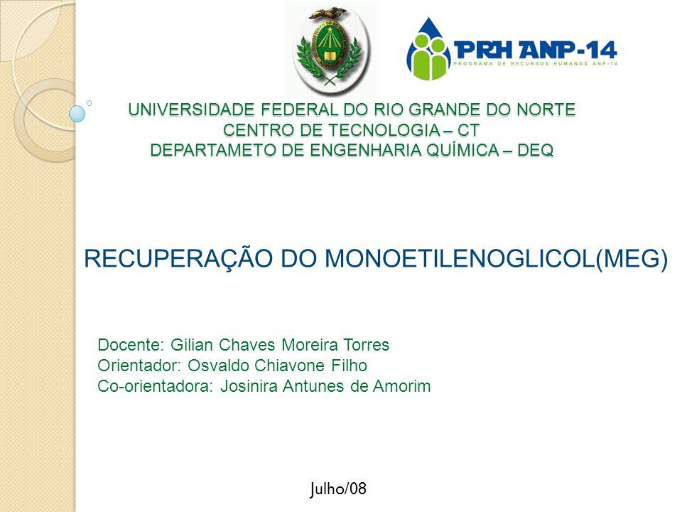 RECUPERAÇÃO DO MONOETILENOGLICOL(MEG)