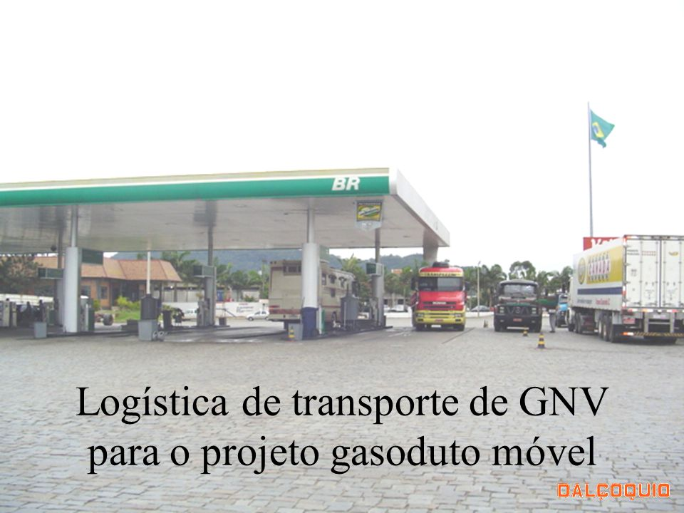 Logística de transporte de GNV para o projeto gasoduto móvel