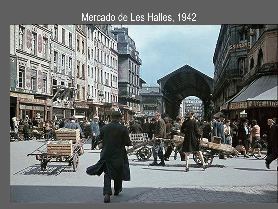 Mercado de Les Halles, 1942