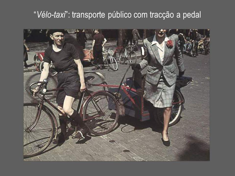 Vélo-taxi : transporte público com tracção a pedal
