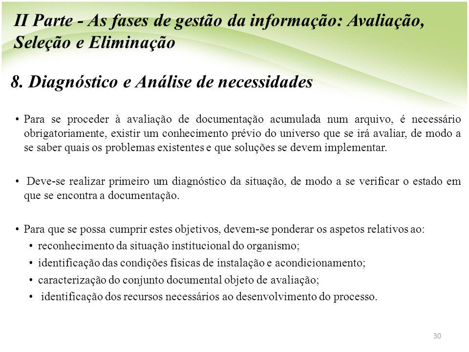 8. Diagnóstico e Análise de necessidades