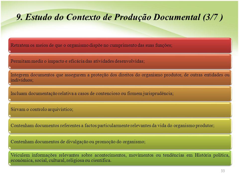 9. Estudo do Contexto de Produção Documental (3/7 )