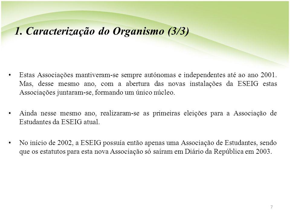 1. Caracterização do Organismo (3/3)