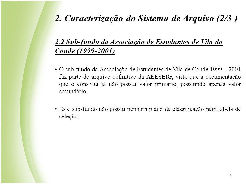 2. Caracterização do Sistema de Arquivo (2/3 )
