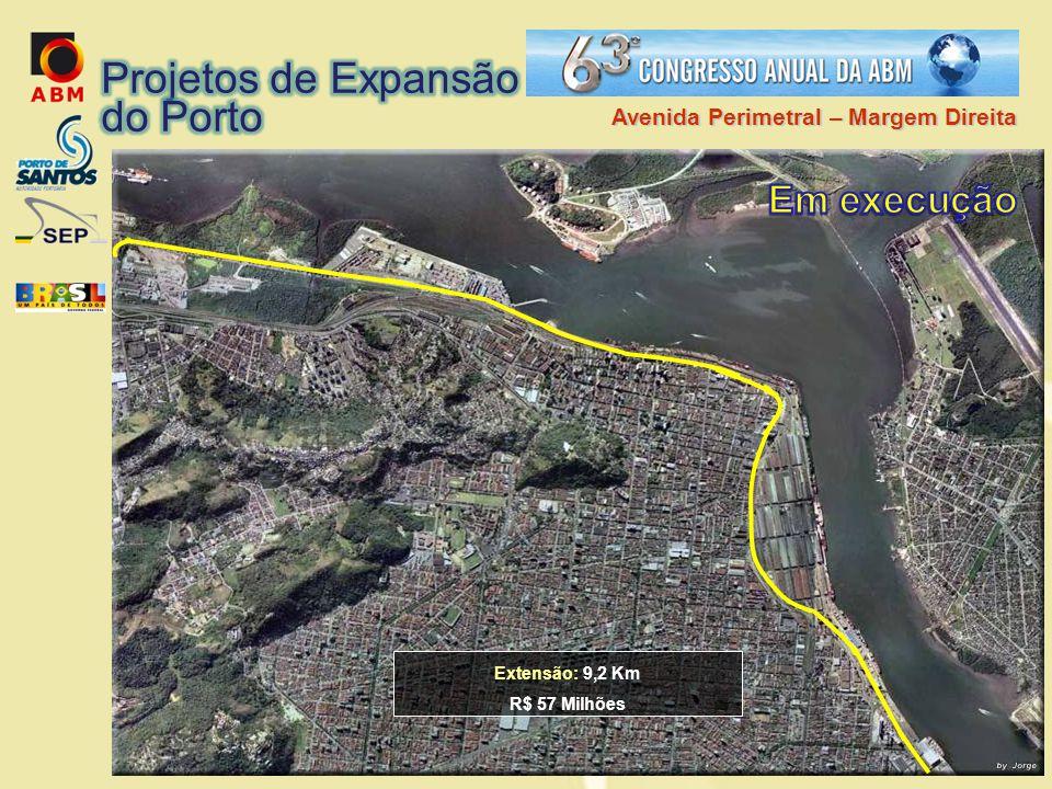 Projetos de Expansão do Porto Em execução