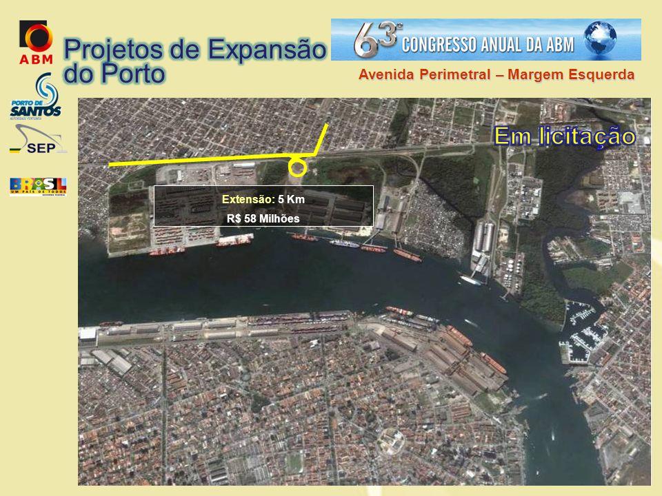 Projetos de Expansão do Porto Em licitação